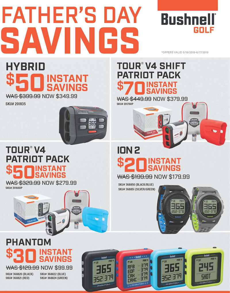 2019 Bushnell Fathers Day Promo